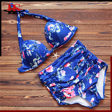 Wholesale 2 Pieces Set Fat Women Plus Size Neck Halter Sexy Bikini Pictures China Bikinis Swimwear