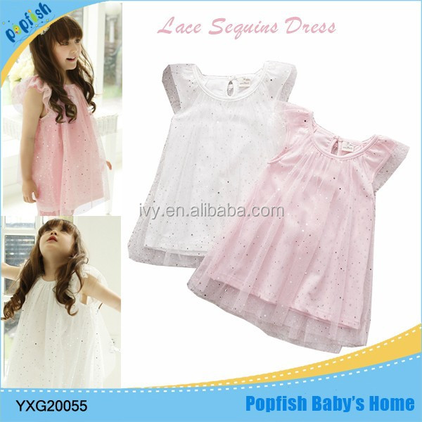 2016 modern new style girl summer dress baby 1 year old party dress or birthday