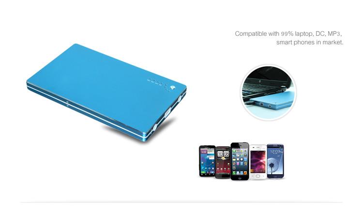 Universal External Alloy Aluminum 20000mAh  Power Bank For Acer for HP for  Dell  for Lenovo Laptop Notebook Tablet PC