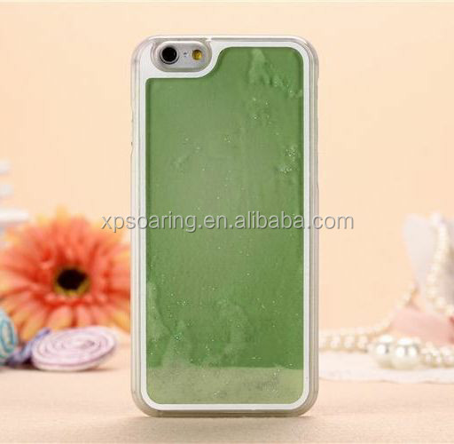 luminous liquid case skin cover for iphone 6, quicksand case for iphone 6