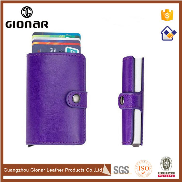 Special Multiple Personalized Business Automatic Credit Card Leather Holder