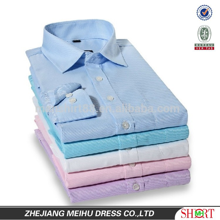 2016 multi colored Twill Mens business dress shirt Man shirt