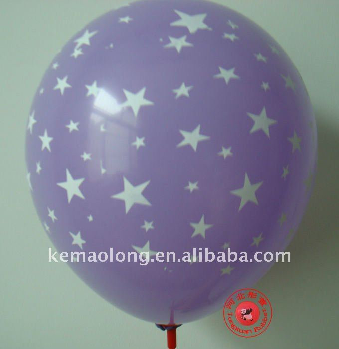 printed balloon as toy