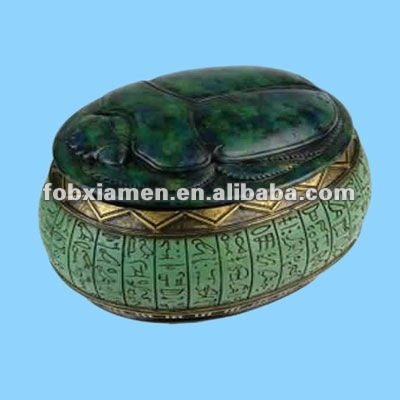 ceramic antique egyptian jewelry boxes