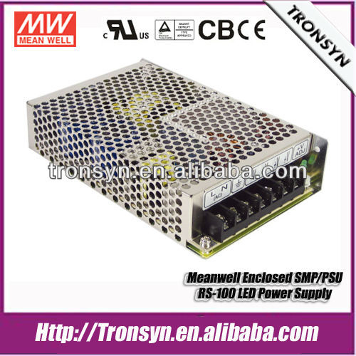 Meanwell Power Supply RS-100-24 (100W 24V) Single Output Enclosed SMPS LED Switching Power Supply