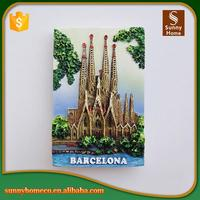 Tourist Souvenirs Barcelona Polyresin 3d Fridge Magnet For Home Decoration