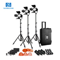 Nanguang2.4G portable lighting kits led spot light CN-30F 3KIT for interview and studio Lighting WIFI remoter