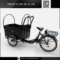 Finnish electric passenger bike BRI-C01 3 wheel kids double seat tricycle