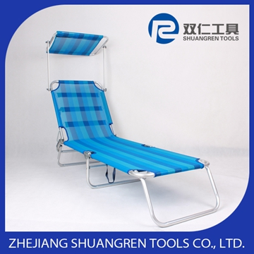lightweight metal fashion folding sun lounger with wheel
