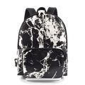 Marble printing washable kraft paper backpack school bag,student backpack