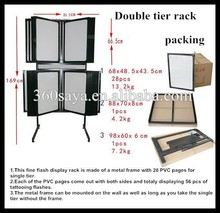 New Best Quality Professional Doubble Tiers Tattoo Flash Rack