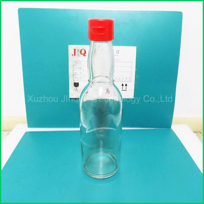 glass bottle with pull ring cap, best selling sauce glass bottle ,100ml glass bottle