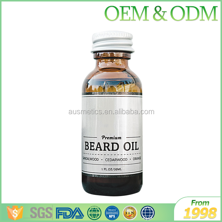 Private label pure organic argan oil beard oil smoothing beard oil natural