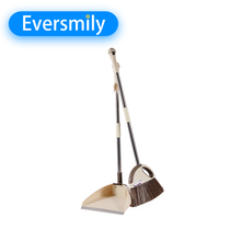 Professional plastic set household broom and dustpan from shantou