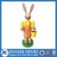Whole sale Easter solid wood rabbit decoration