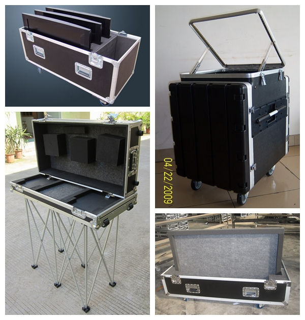 6 space amp rack studio flight pro dj pa audio flight case,aluminum flight case