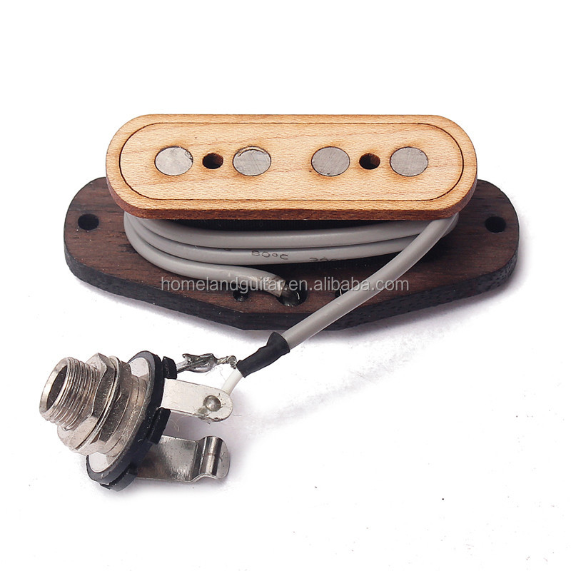 4 String Maple Electric Cigar Box Guitar Bass Pickup & Input Jack guitar replacement parts