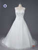 HMY-E0332 Floor Length V Neckline Sleeveless Crystal Pattern A-line Wedding Dress Cheap