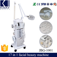 17 in 1 Hot Sell Multifunction diamond microdermabrasion Skin Scrubber Care Facial Beauty Machine with CE