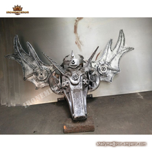 Metal animal head metal sculptures,Metal ornaments wall decoration for sale
