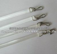 10mm and 12mm round Clear curtain baton for Drapery Hardware