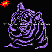 Strass tiger bling crystal hot fix transfer rhinestone motif (17)