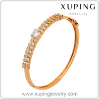 50302-xuping fashion jewellery latest gold bangles designs 18k gold saudi cz bangle