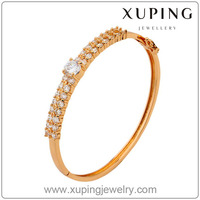 Xuping Fashion Jewellery gold plated bangles jewelry Synthetic Cubic Zircon bangles and bracelets