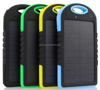 Mini Portable Solar Powerbank External Backup Charger Battery Slim Waterproof Solar Power Bank for Mobile Phone