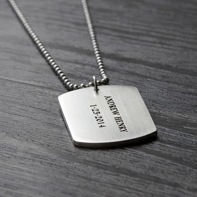 wholesale custom name plate necklace jewelry stainless steel