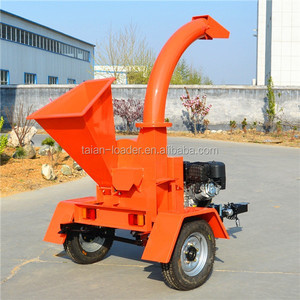 High quality 13HP gasoline garden wood machine log chipper shredder engine wood chipper for sale