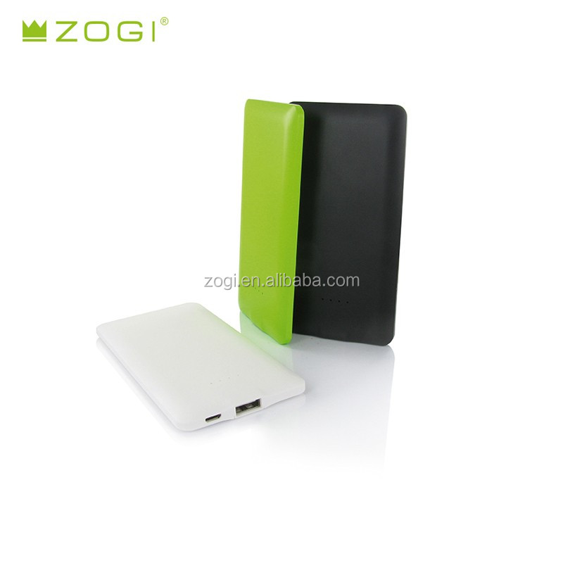 ultra slim universal power bank 3000mah portable for IOS and android smartphones and tablet PC