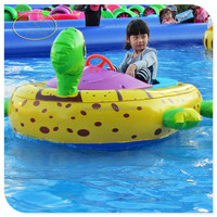 Inflatable Electric Motor Bumper Boat for Kids Water Playing Game