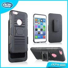 Shockproof Back Cover hard Case with kickstand for iPhone 6plus , slim armor case with belt clip for Samsung