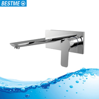 Concealed brass body chromed finish kitchen faucet with low price
