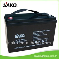 12V100AH Maintenance Free Solar Battery with 10 Years Life Design l