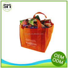 promotional two Color two sides silk printing ECO non woven bag
