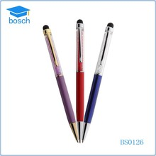 Novelty touch custom clip pen, crystal stylus pen