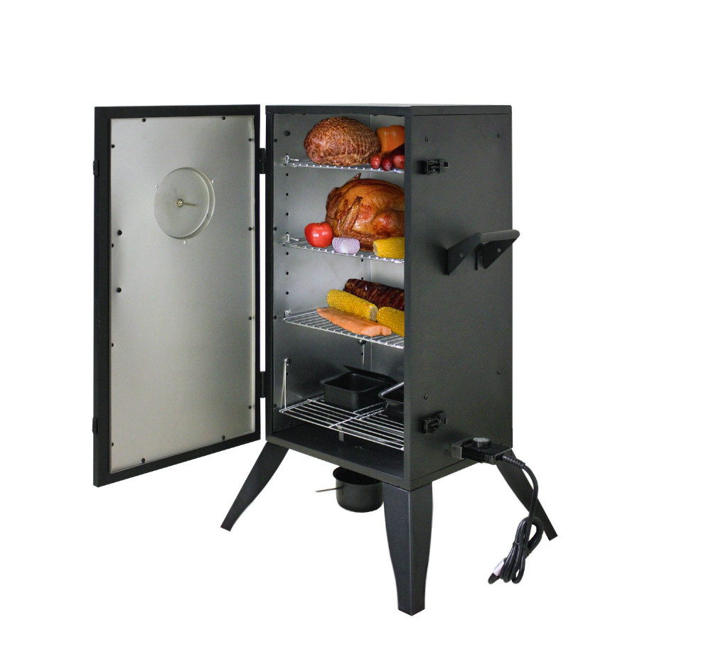 "30"" Double Layers Electric Vertical Box Smoker Grills Fish Smoker"