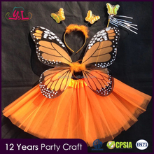 Princess Costume Tutu Light up Fairy Angel Wing with Glitter For Crafts