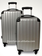 cheap luggage bags and shiny finish ABS+pc trolley luggage(DC-8115)