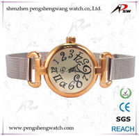 Rose gold fancy beautiful lady watches sexy ladies watches