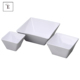 Disposable White Hotel melamine square popcorn pasta collapsible bowls