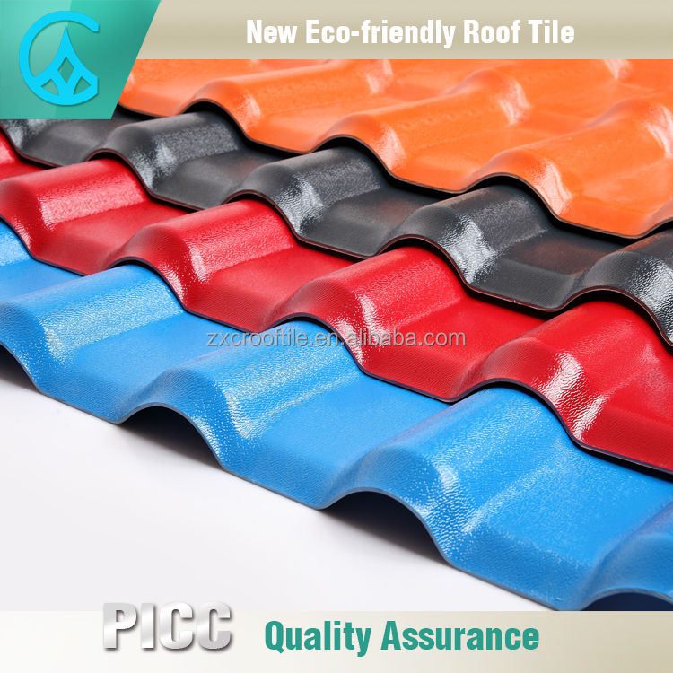 China supplier good anticorrosive ASA PVC French Roof Tile