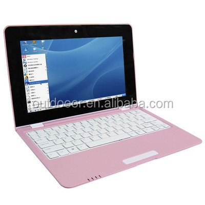 10.1 inch Windows CE 7.0 OS Notebook Computer with WIFI and RJ45 Port, Support SD / MMC Card, CPU: VIA WM8850, 1.2GHZ(Pink)
