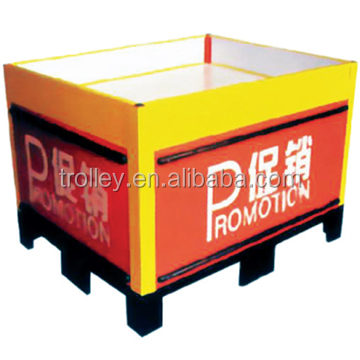 2014 Hot selling promotion folding table /metal shelving units/promotion foldig table
