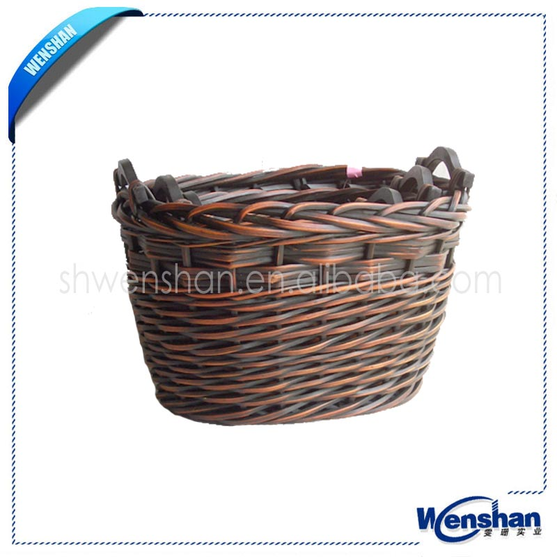 wholesale miniature willow wicker bicycle baskets