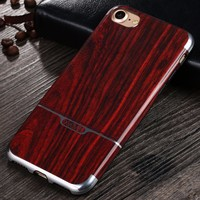 [X-Level] High Quality IMD Process Wholesale Wooden Pattern Soft TPU Wood Texture Phone Case for iPhone 7