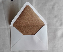 Gold Glitter Lined Euro Flap Envelope