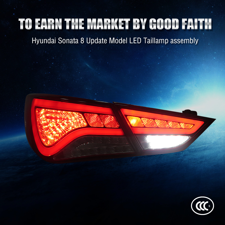 High quality car accessories modified Hyundai Sonata 8 Led tail light with rear lamp for Update Model